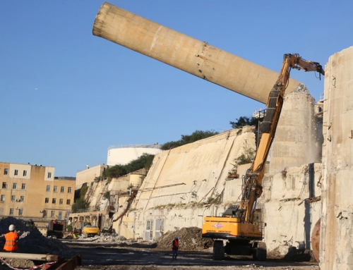 Two Marsa Power Station chimneys demolished