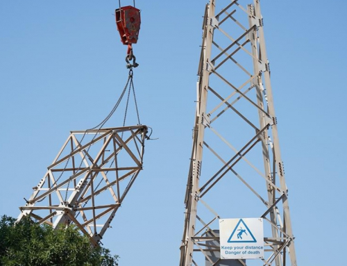 The high voltage pylons removal project progressed into it's second phase