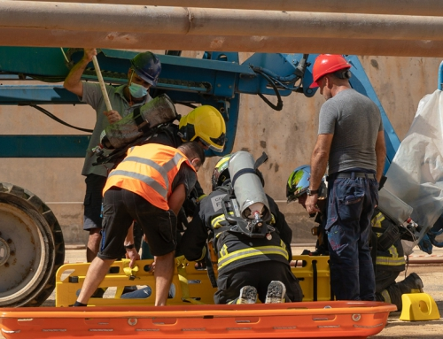 Emergency drill at Delimara Power Station